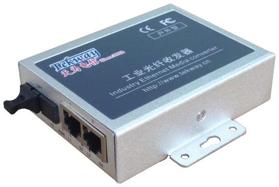 百兆1光2电户外型光纤收发器