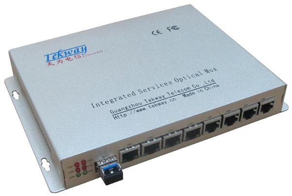 8口光纤交换机  (1光8电100M小交换机)